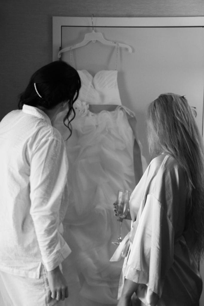 first glance of wedding dress